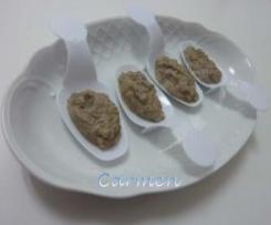 Paté de champiñones -curso cuida tu salud-