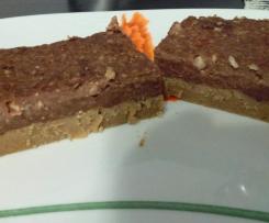 Tarta de nueces, almendras y chocolate (sin azucar)