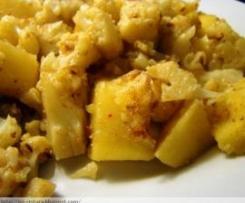 Aloo gobi (coliflor con patatas) Receta hindú