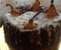 Tarta de Pera con glaseado de pera