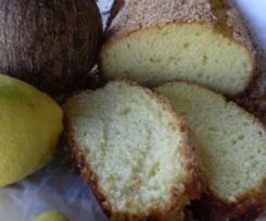 Bizcocho de cítricos con aroma de coco