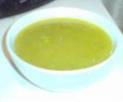 Crema ligera de calabacín