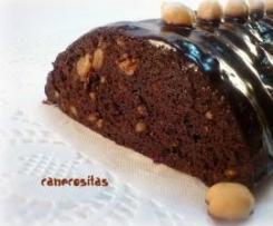 Bizcocho de chocolate con garbanzos cocidos